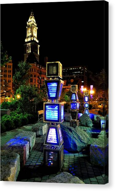 Boston Jetson Lights 1 Canvas Print