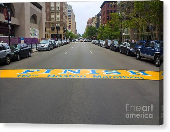 Boston Marathon Finish Line Canvas Print