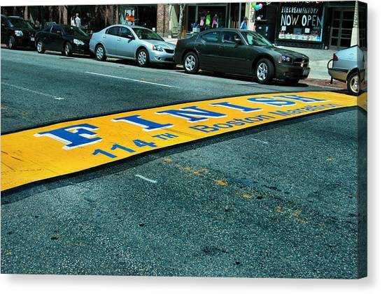 Finish Line Canvas Print - Boston Marathon Finish Line by Rick Couper
