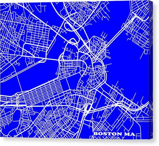 Boston Massachusetts City Map Streets Art Print   Canvas Print
