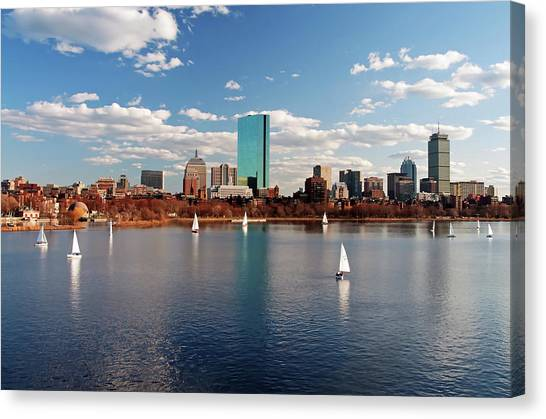 Boston On The Charles  Canvas Print