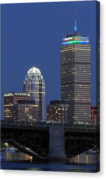 Boston Prudential Center Celebrating 100th Anniversary Of Shaw Market Canvas Print by Juergen Roth