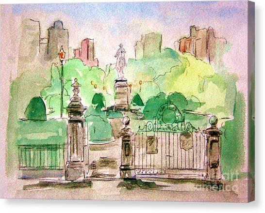 Boston Public Gardens Canvas Print
