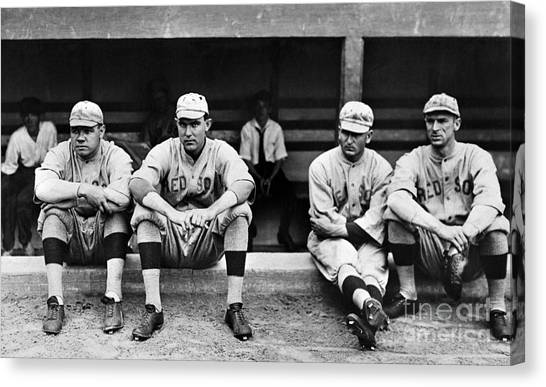 Dugouts Canvas Print - Boston Red Sox, C1916 by Granger