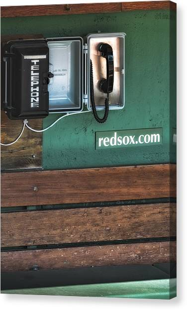 Boston Red Sox Dugout Telephone Canvas Print