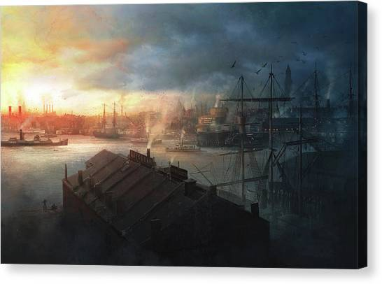 Boston Canvas Print - Boston, September The 2nd, 1930. Miskatonic Expedition. by Guillem H Pongiluppi