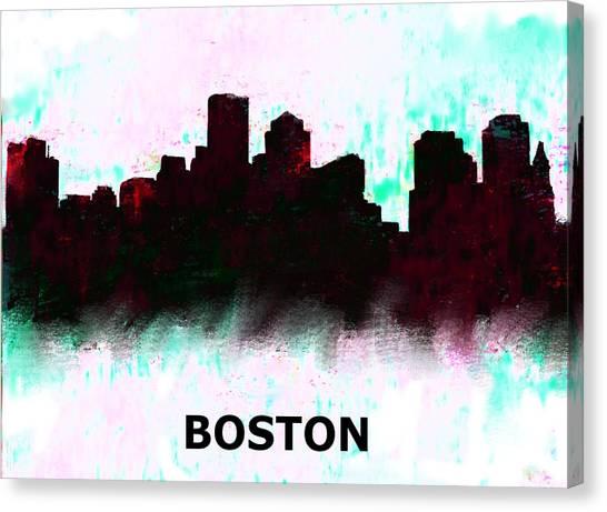 Ben Affleck Canvas Print - Boston Skyline  1 by Enki Art