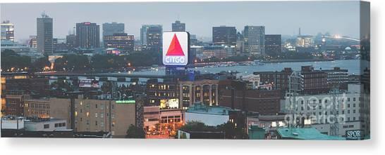 Harvard University Canvas Print - Boston Skyline Aerial Panorama Photo by Paul Velgos