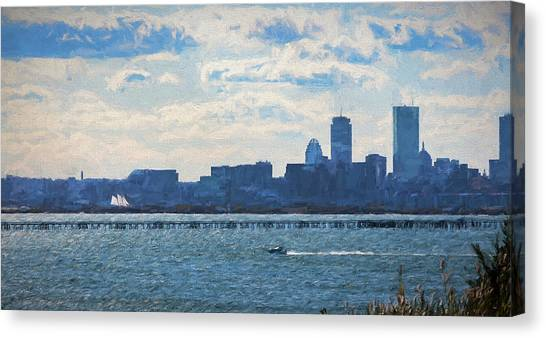 Boston Skyline From Deer Island Canvas Print