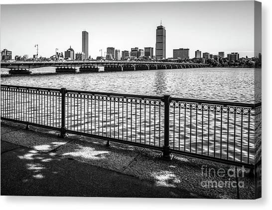 Harvard University Canvas Print - Boston Skyline Harvard Bridge Back Bay Photo by Paul Velgos
