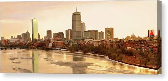 Boston Skyline On A December Morning Canvas Print