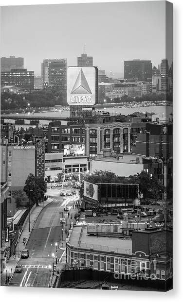 Harvard University Canvas Print - Boston Skyline Photo With The Citgo Sign by Paul Velgos