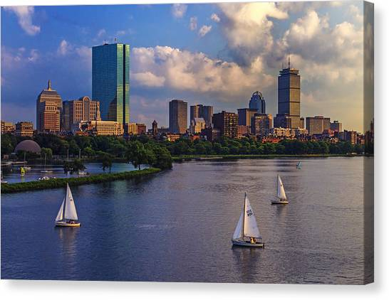 Back Canvas Print - Boston Skyline by Rick Berk