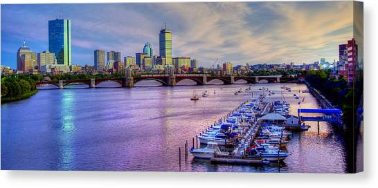 Boston Skyline Sunset Canvas Print