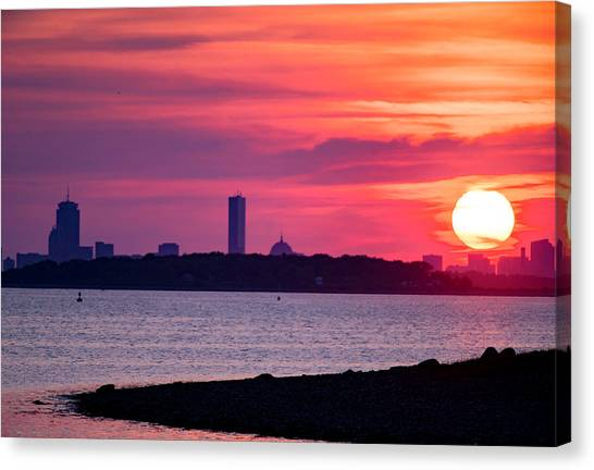 Boston Skyline Worlds End Canvas Print