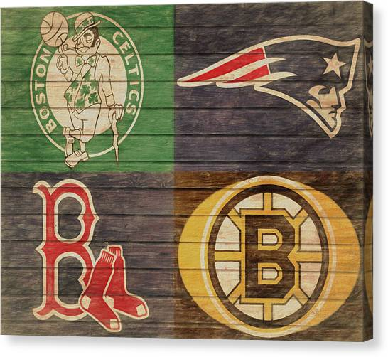 Boston Sports Teams Barn Door Canvas Print