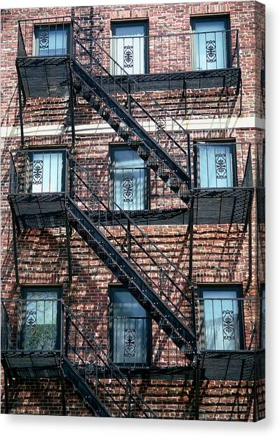 Boston Stairs Canvas Print