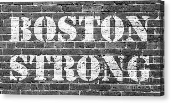 Marathons Canvas Print - Boston Strong by Edward Fielding