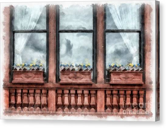 Running Backs Canvas Print - Boston Strong Memorial Back Bay by Edward Fielding