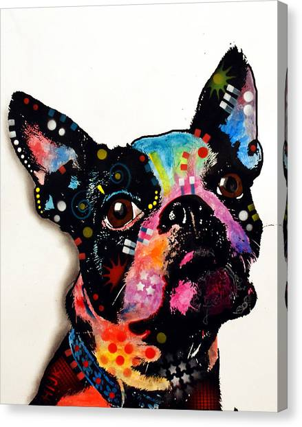 Boston Terrier Canvas Print - Boston Terrier II by Dean Russo Art
