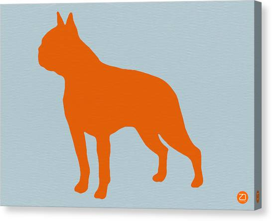 Boston Canvas Print - Boston Terrier Orange by Naxart Studio