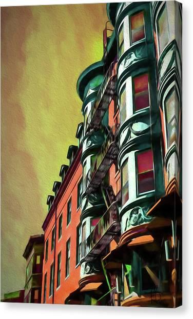 Boston's Famous North Square Canvas Print