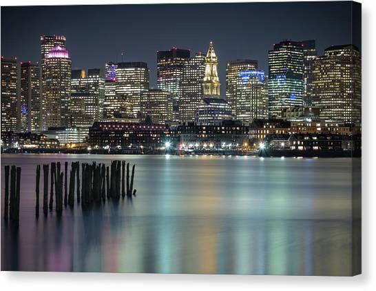 Boston's Skyline From Lopresti Park Canvas Print