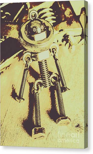Contractors Canvas Print - Bot The Builder by Jorgo Photography - Wall Art Gallery