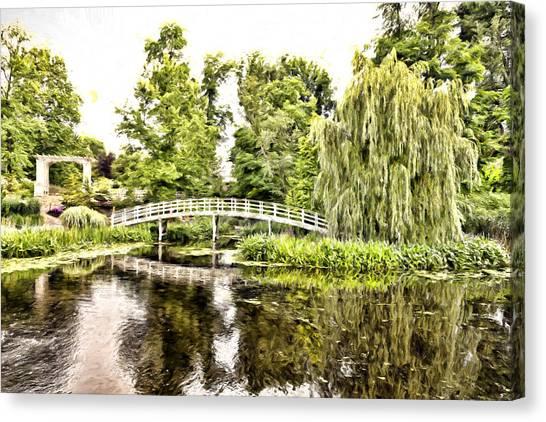 Botanical Bridge - Monet Canvas Print