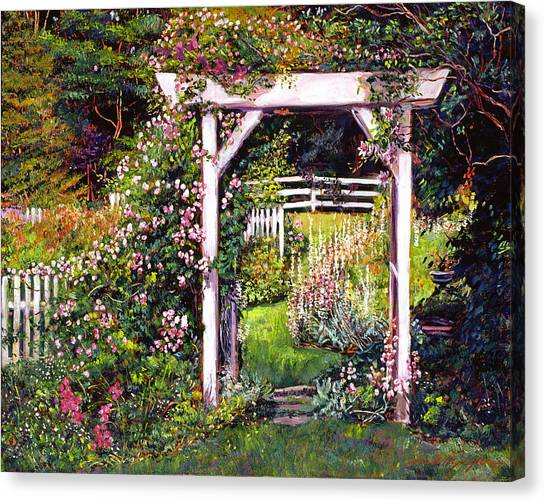 Arbor Canvas Print - Botanical Paradise by David Lloyd Glover