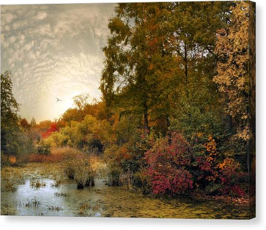 Wetlands Canvas Print - Botanical Wetlands by Jessica Jenney