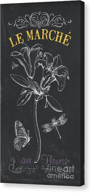 Flower Shop Canvas Print - Botanique 3 by Debbie DeWitt