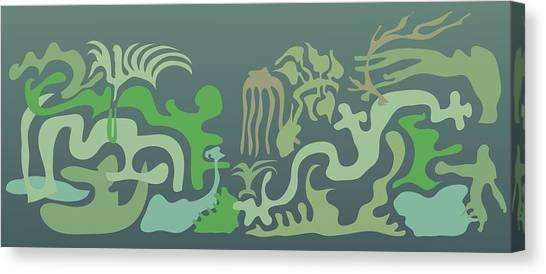 Botaniscribble Canvas Print