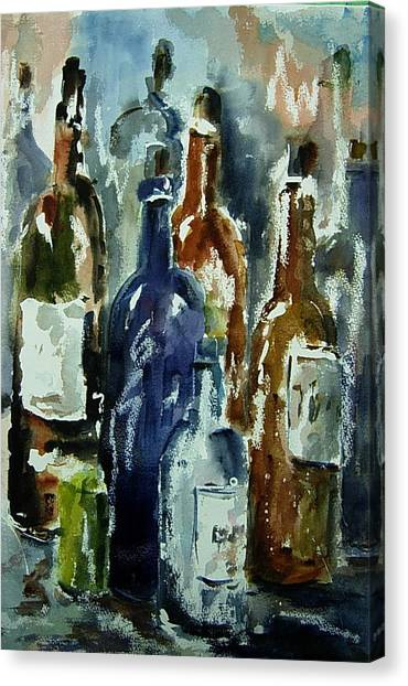 Bottle In A Dusty Cellar Canvas Print