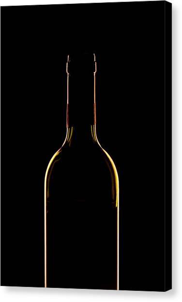 Wine Art Canvas Print - Bottle Of Wine by Andrew Soundarajan