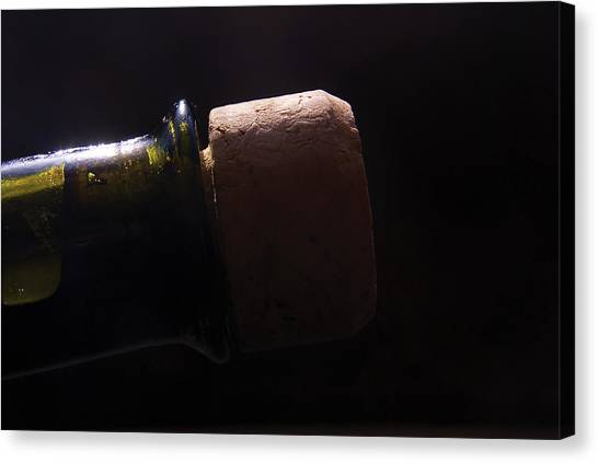 bottle top and Cork Canvas Print