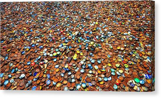 Bottlecap Alley Canvas Print
