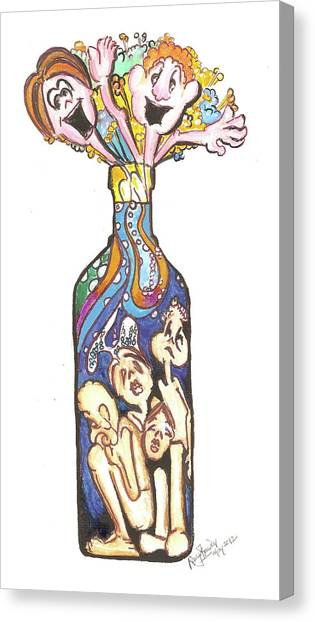 Bottled Emotions Canvas Print by Remy Francis