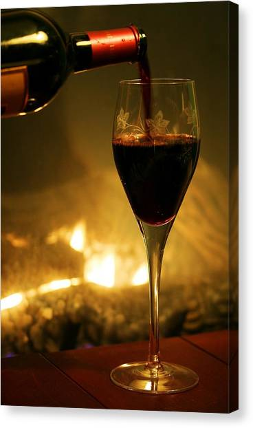 d56910a7b Wine Bottle Canvas Print - Bottled Poetry by Mitch Cat