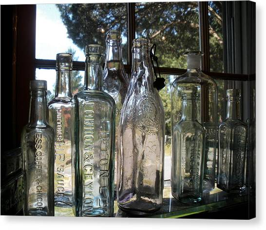 Bottled Up Canvas Print by Richard Mansfield