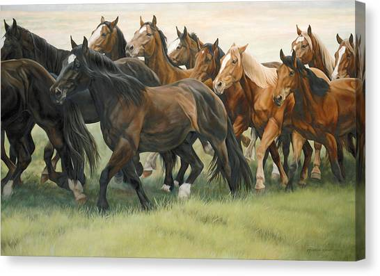Equestrian Canvas Print - Bottleneck by JQ Licensing