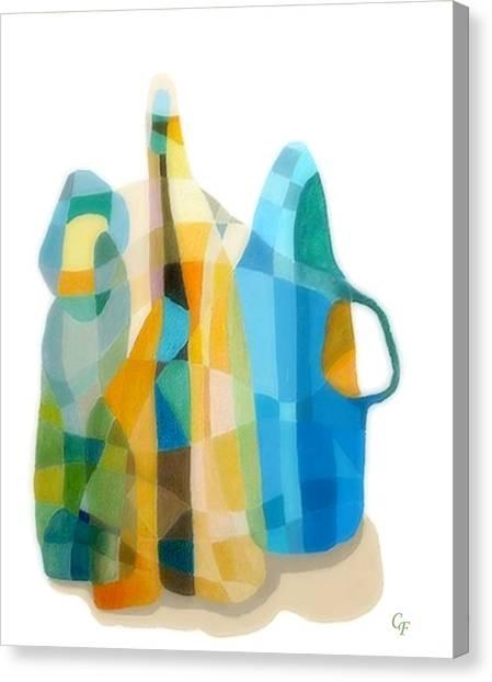 Bottles Still Life Canvas Print by Carola Ann-Margret Forsberg