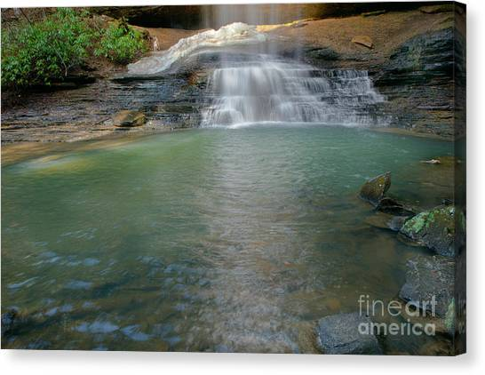 Bottom Of Falls Canvas Print