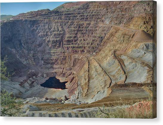 Canvas Print featuring the photograph Bottom Of The Lavender Pit Mine by Dan McManus