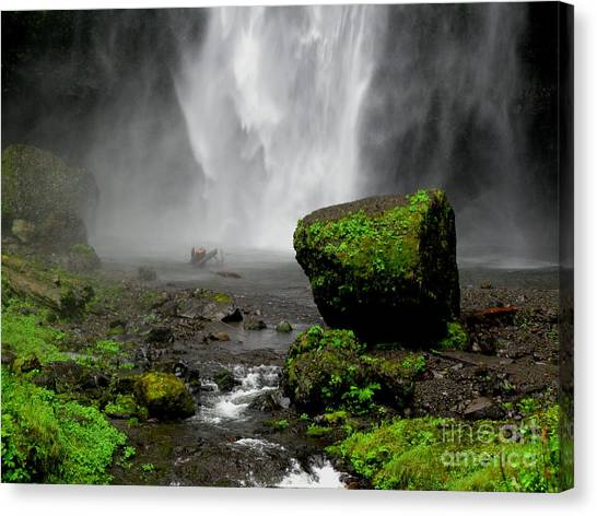 Bottom Of Wakeena Falls Canvas Print by PJ  Cloud