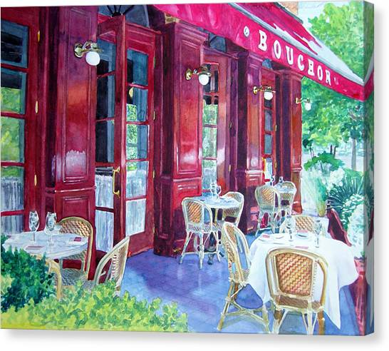 Wine Country Canvas Print - Bouchon Restaurant Outside Dining by Gail Chandler