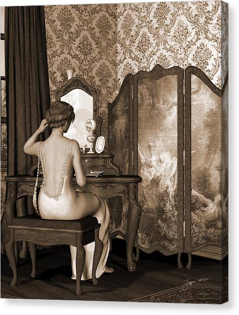 Boudoir Reflection Canvas Print