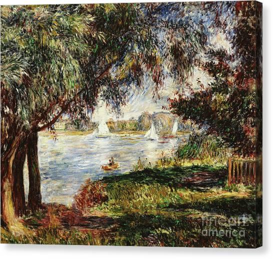 Pierre-auguste Renoir Canvas Print - Bougival by Pierre Auguste Renoir