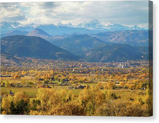 University Of Colorado Canvas Print - Boulder Colorado Autumn Scenic View by James BO  Insogna