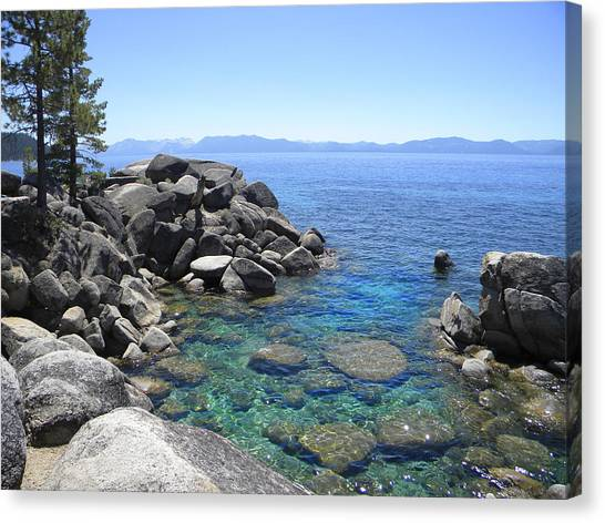 Boulder Cove On Lake Tahoe Canvas Print